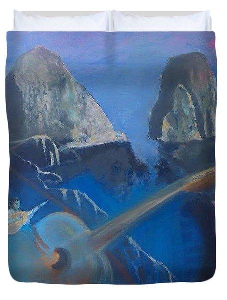 Faraglioni Serenade Duvet Cover