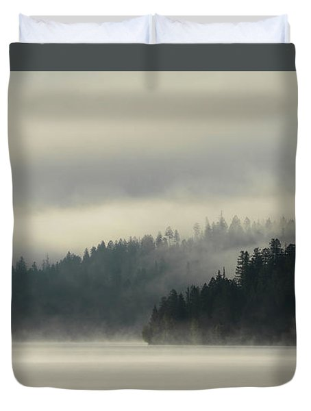 Faraway Misty Mountains Duvet Cover