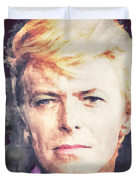 Farewell David Bowie Duvet Cover