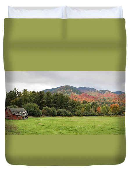 Farewell Red Barn Duvet Cover
