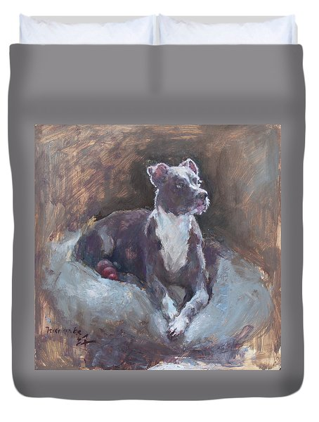 Faris 1 Duvet Cover by Becky Kim