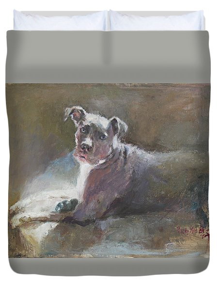 Faris 2 Duvet Cover by Becky Kim