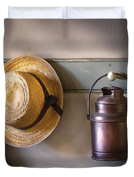 Farm - Tool - The Coat Rack Duvet Cover by Mike Savad