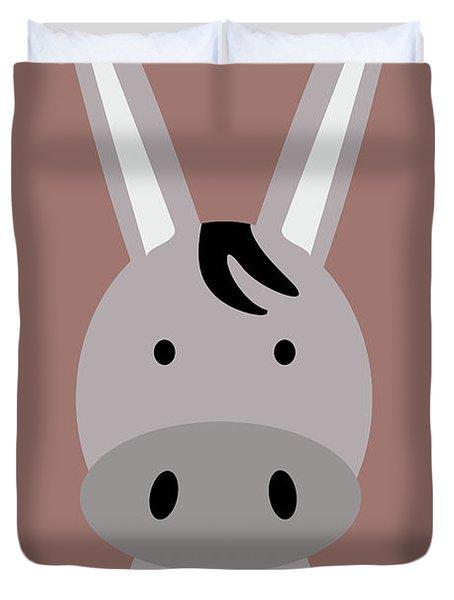 Farm Animals - Donkey Duvet Cover