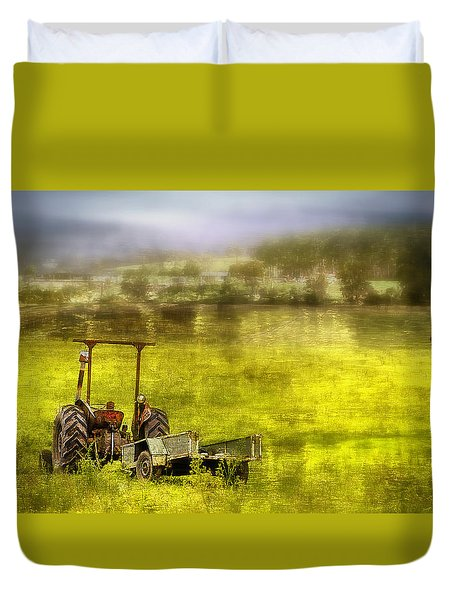 Duvet Cover featuring the photograph Farm Art 001 by Kevin Chippindall