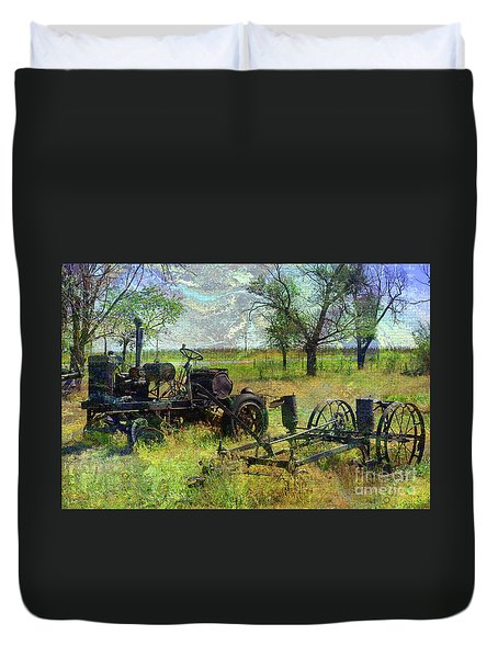 Farm Equipment Duvet Cover