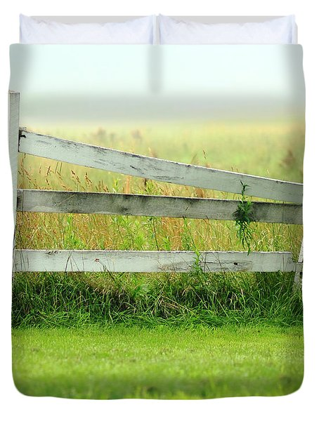 Farm Fence Duvet Cover