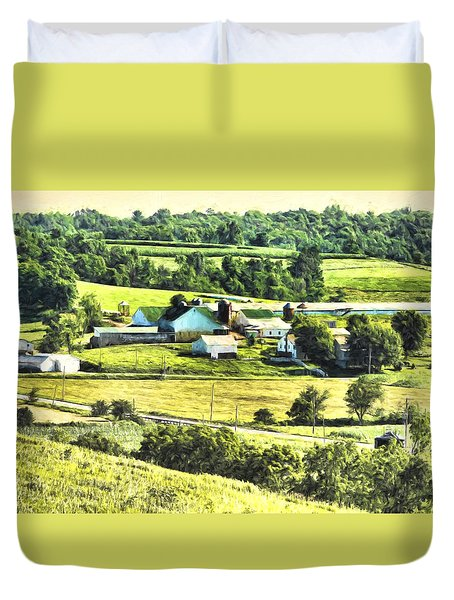 Duvet Cover featuring the photograph Farm Fresh by Anthony Baatz