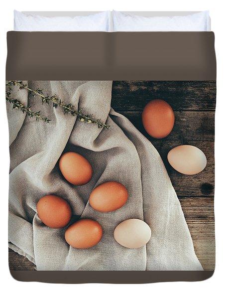 Duvet Cover featuring the photograph Farm Fresh by Kim Hojnacki