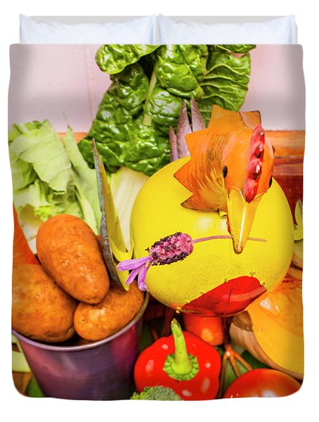 Farm Fresh Produce Duvet Cover
