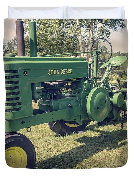 Farm Green Tractor Vintage Style Duvet Cover