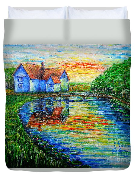 Farm House Duvet Cover by Viktor Lazarev