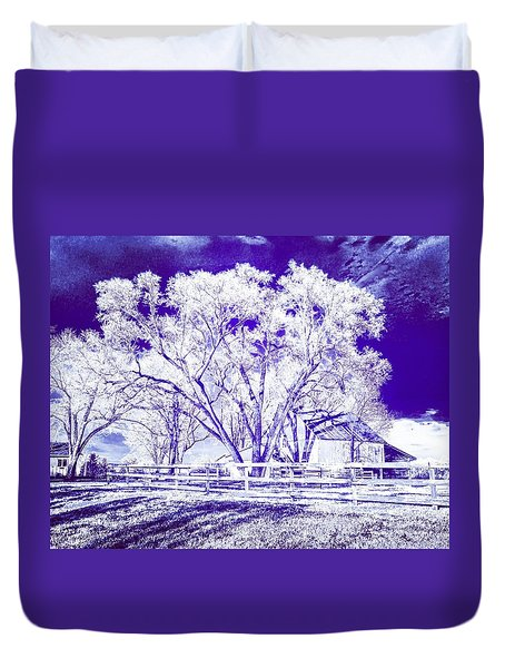 Farm In Suburbia With Wildcat Flare Duvet Cover