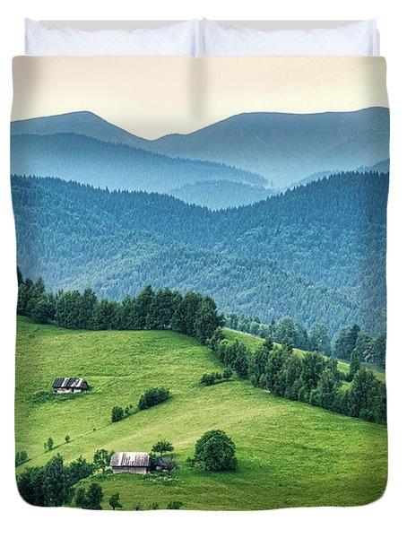 Farm In The Mountains - Romania Duvet Cover