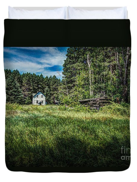 Farm In The Woods Duvet Cover