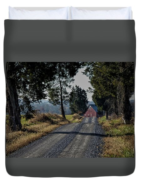 Duvet Cover featuring the photograph Farm Lane by Robert Geary