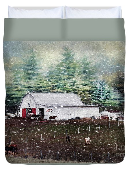 Duvet Cover featuring the photograph Farm Life by Darren Fisher
