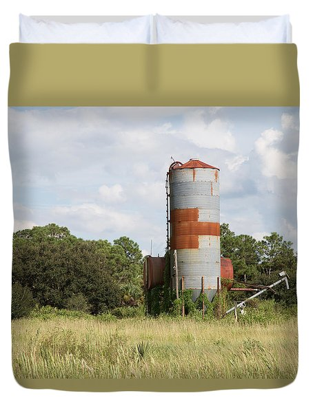 Farm Life - Retired Silo Duvet Cover