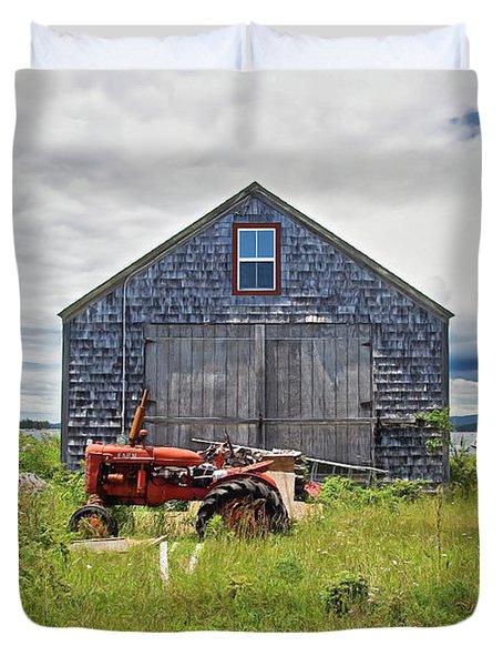 Farm On The Sea  Duvet Cover