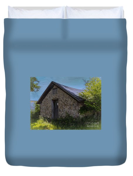 Farm Outbuilding Duvet Cover by JRP Photography