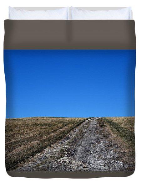 Farm Road - The Berkshires Duvet Cover