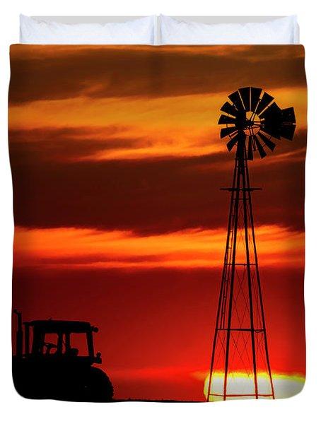 Farm Silhouettes Duvet Cover