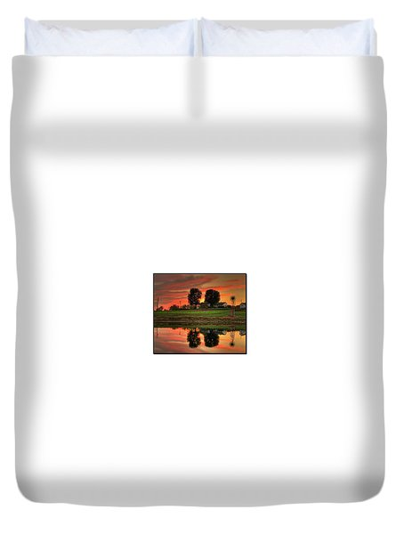 Farm Sunset Duvet Cover