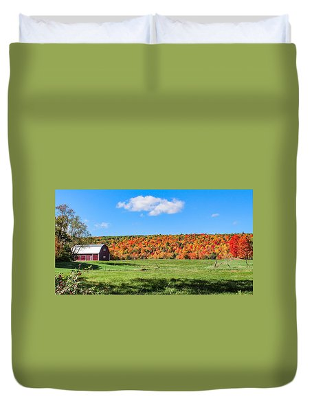 Farm View From Russellville Road Duvet Cover