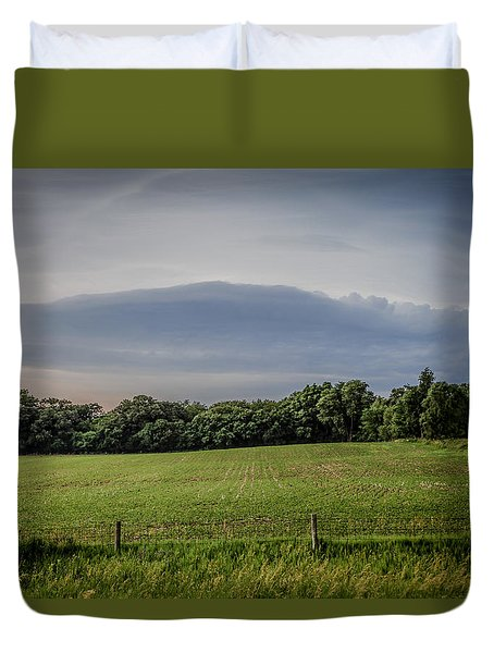 Farm Weather Duvet Cover by Ray Congrove