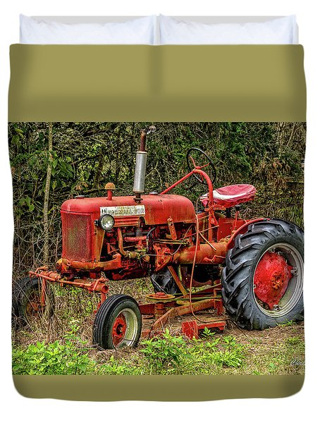 Duvet Cover featuring the photograph Farmall Cub by Christopher Holmes