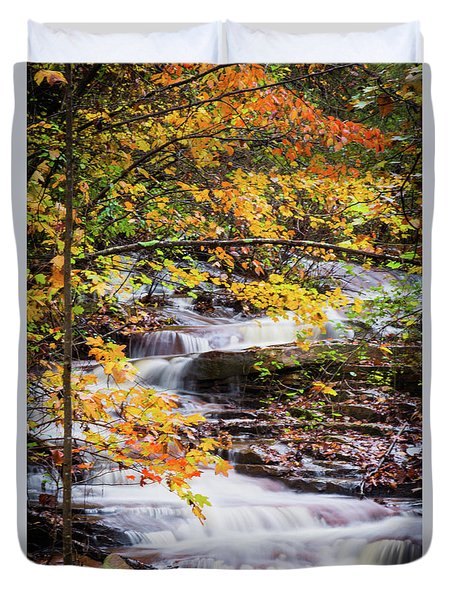 Duvet Cover featuring the photograph Farmed With Golden Colors by Parker Cunningham