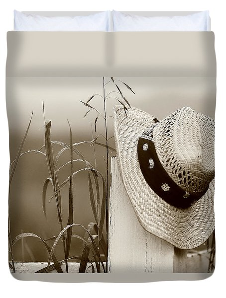 Farmers Hat Duvet Cover