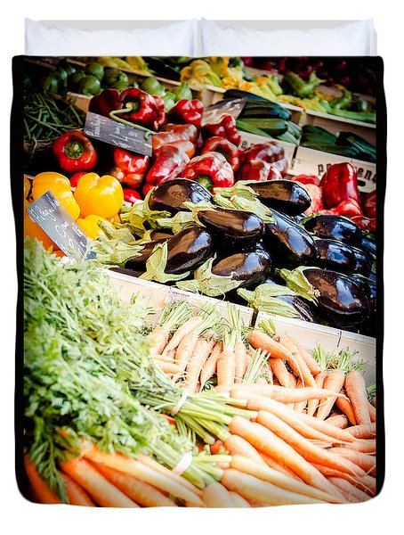 Duvet Cover featuring the photograph Farmer's Market by Jason Smith