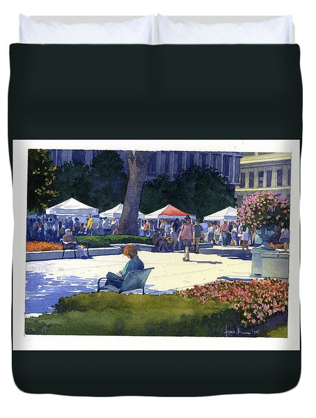 Farmers Market, Madison Duvet Cover