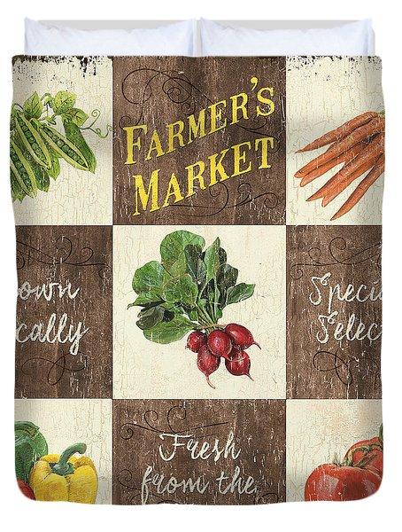 Farmer's Market Patch Duvet Cover