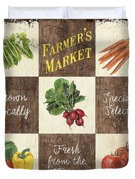 Farmer's Market Patch Duvet Cover