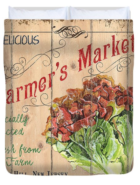 Farmer's Market Sign Duvet Cover