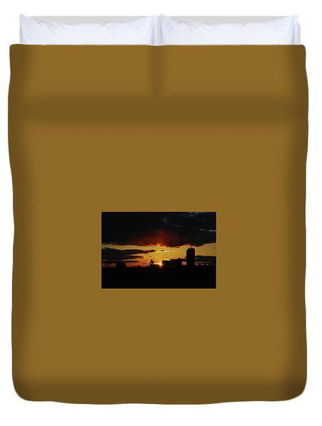 Farmer's Sunset Duvet Cover