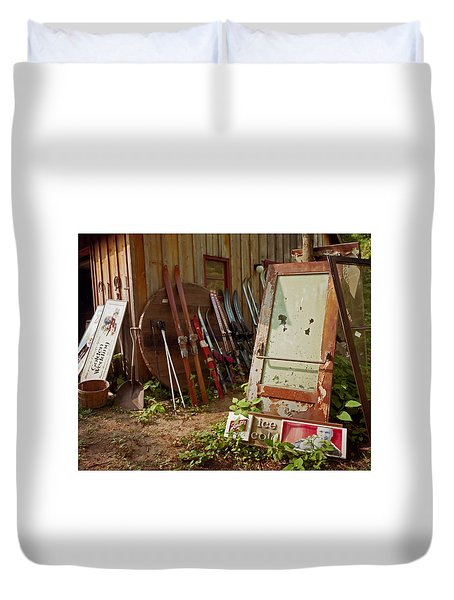 Farmhouse Antiques Duvet Cover