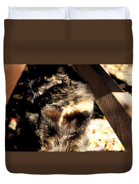 Farmhouse Cat Duvet Cover