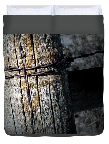 Farming Cross Duvet Cover