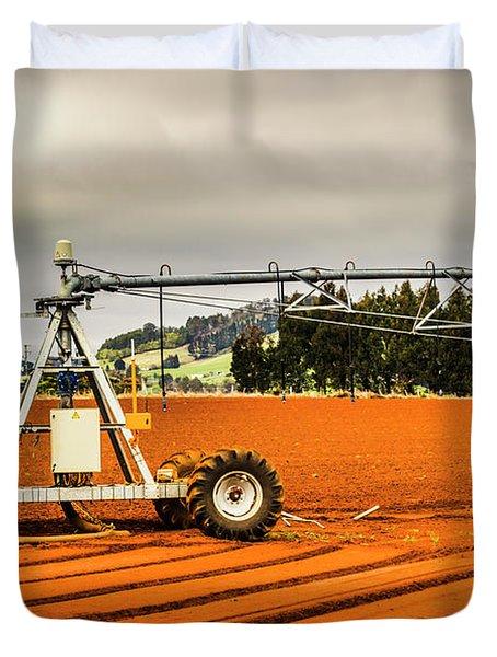 Farming Field Equipment Duvet Cover