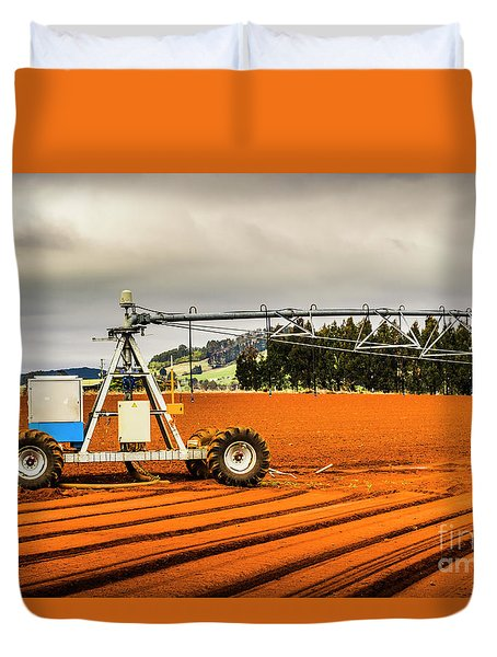 Farming Field Equipment Duvet Cover