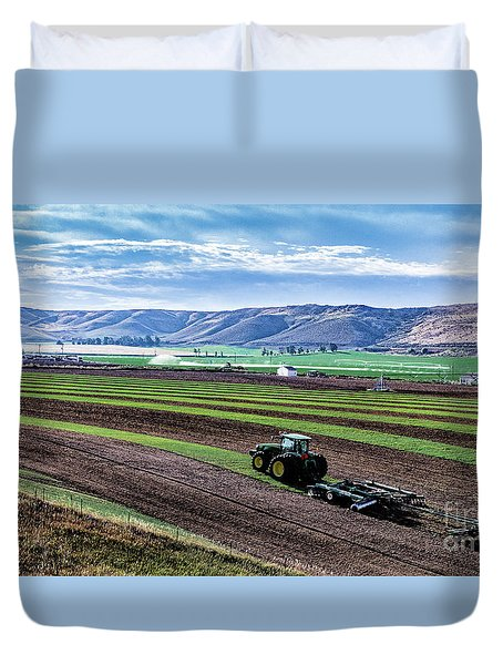 Farming In Pardise Agriculture Art By Kaylyn Franks Duvet Cover