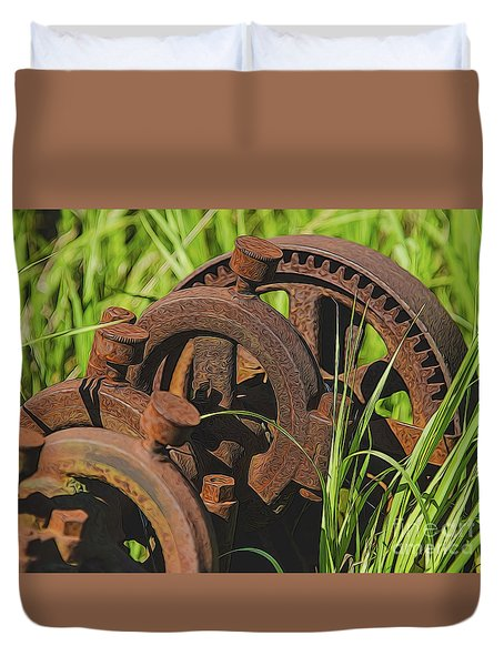 Farming Rusty Gold Duvet Cover