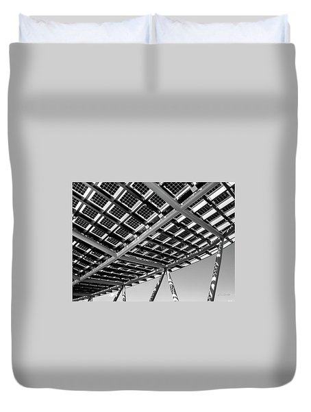 Farming The Sun - Architectural Abstract Duvet Cover