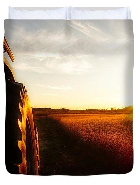 Farming Until Sunset Duvet Cover