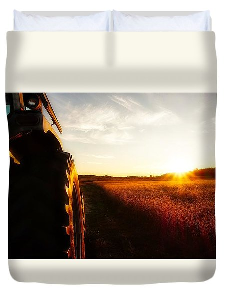 Farming Until Sunset Duvet Cover