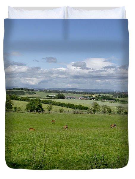 Farmland In Beecraigs. Duvet Cover