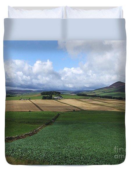 Farmland Near Rhynie, Aberdeenshire Duvet Cover